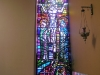 Crucifixion stained-glass window